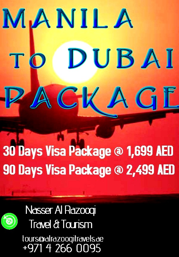 Manila to Dubai Package – Nasser Al Razooqi Travel & Tourism